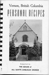 Personal Recipes - All Saints Anglican Church, Vernon, BC