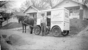 Cart and horse - door to door bakery