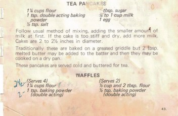 Waffles recipe from Made to Measure