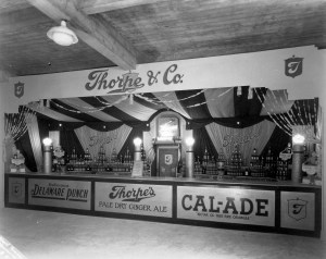 Thorpe's Soda Display at Pacific National Exhibition c. 1930