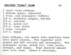Fuited Coal Slaw