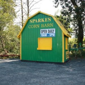 Sparke's yellow and green corn barn