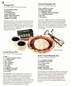 Pie and coffee recipe