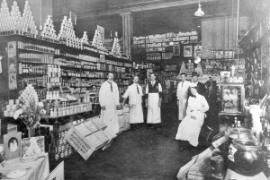 Interior of Woodwards in the early days