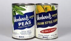Woodward's brand name peas and corn