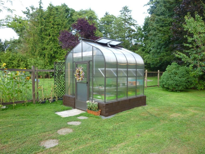 Brown 8x8 Sungarden Greenhouse Bc Greenhouse Builders Ltd