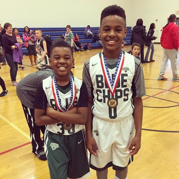 LEBRON JAMES CHEERS ON SONS AS THEY WIN CHAMPIONSHIP