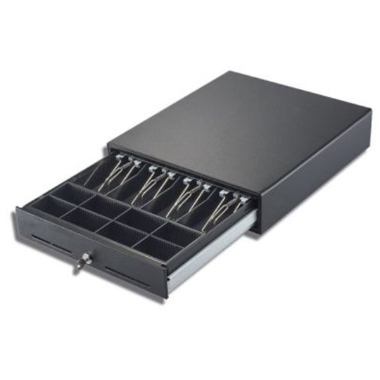 EC-E4141 cash drawer by Ec Line with Heavy-duty ball bearing rollers