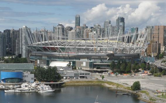 Looking from Science World: Photo capture from BCPlace.com