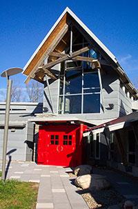 Haliburton Campus red doors