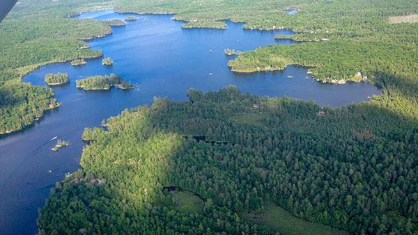 Big Cedar Lake from the Air