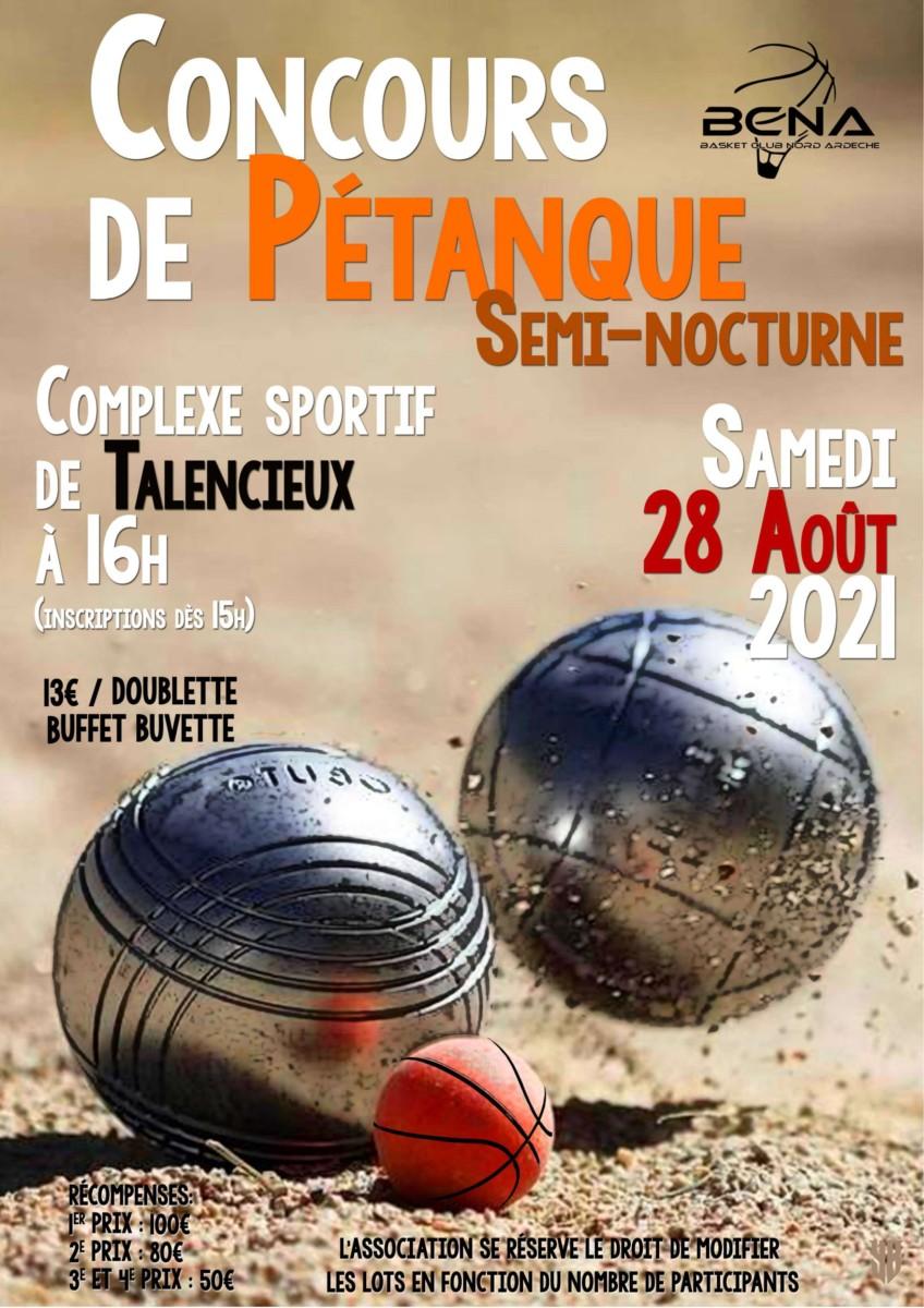 You are currently viewing Concours de Pétanque Semi-Nocturne.