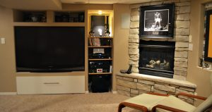 Basement Family Room A/V Installation New Berlin, Wisconsin, Whole house entertainment system, Theater or media room control, digitally integrating Apple and Android devices in your home, digitally integrating Apple and Android devices in your household, Home Theater Design and Installation, Home Entertainment System Design and Installation
