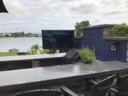 Outdoor System, Custom System Controllers, iPad and iPhone Integration, Whole House Audio and Visual, Surveillance Systems, Lighting, Control and Design, Low Voltage Cabling, TV Cabling, Outdoor TV, Outdoor entertainment, Outdoor Living Space, Apollo Enclosures, Proficient Indoor/Outdoor Speakers