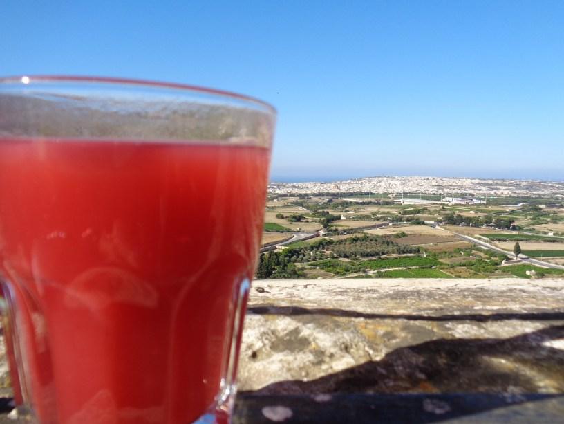 Vistas desde la Terraza de Fontanella en Mdina