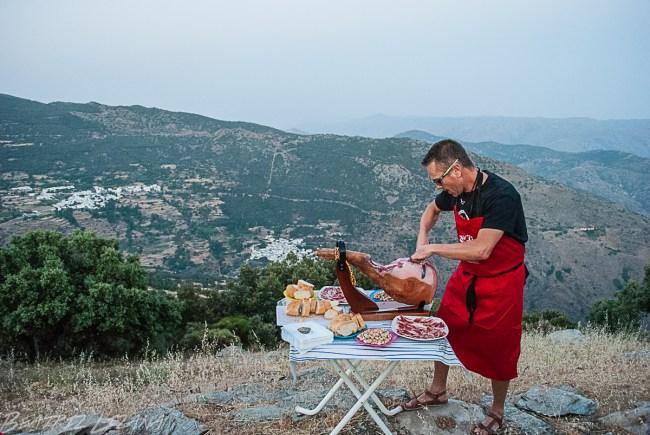Degustación de Jamón de Trevélez en las Alpujarras