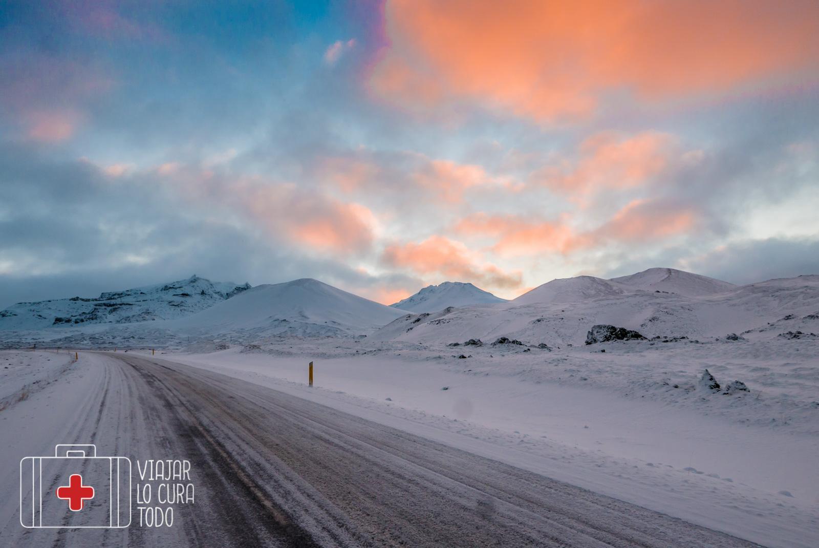 Colores del invierno en Islandia