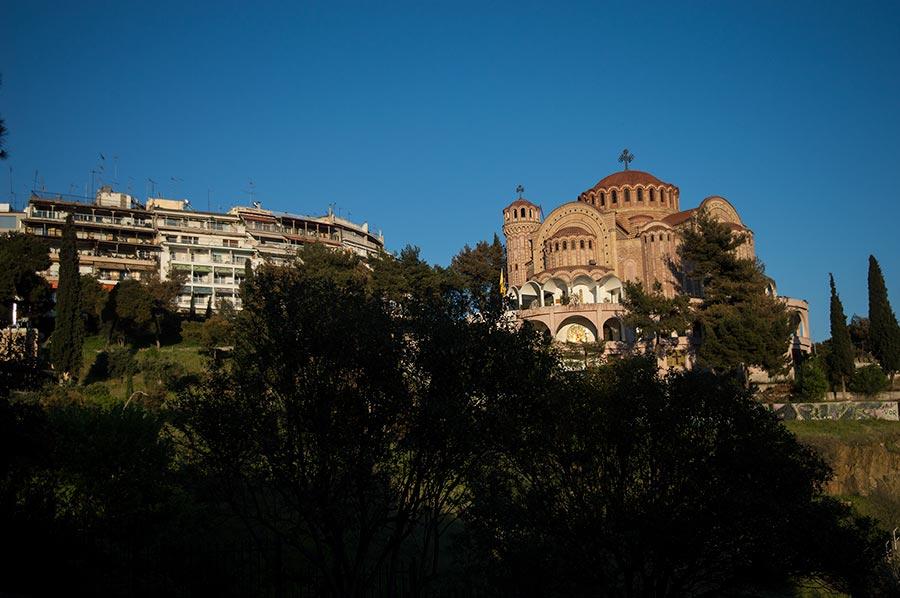 La subida a la zona amurallada, imprescindible en Salónica