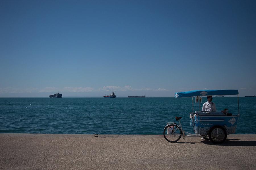 El Egeo se abre tranquilo frente a Salónica