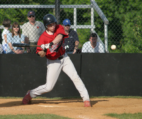 Mason High's Matt Dorr, shown here in action last year, went 2-for2 in the Mustangs' win over Falls Church High School Monday night. (Photo: News-Press)