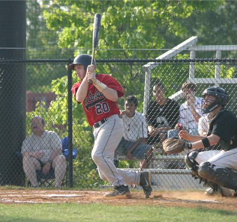 MATT DORR STROKES a single during Tuesday's extra-inning game against Manassas Park. (Photo: News-Press)