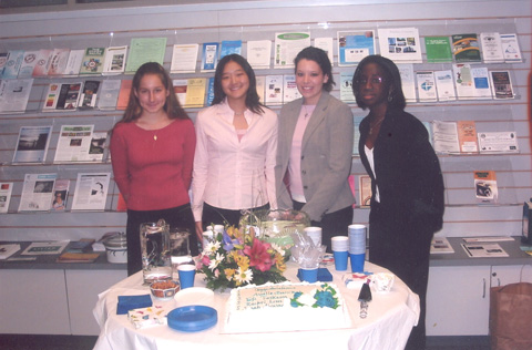 LEFT TO RIGHT ARE ANNE BALICKI (Annandale High School), Rachel Lim (Braddock H.S.), Sarah Alvarez (West Springfield H.S.) and Elfie Turkson (Lee H.S.), the winners of the Springfield-Annandale branch of the American Association of University Women's Diversity Award for their contributions to promoting communications across cultures within the community. On April 19, each recipient was honored with a certificate and a check for $200. (Photo: Courtesy Springfield-Annandale AAUW)