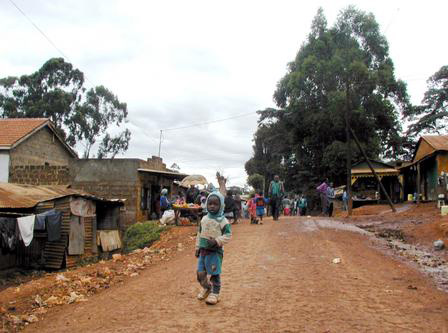 THE SLUM CITY OF KIBERA, pictured, along with Kawangware, Kangemi and Korogocho, is home to the poorest people in Nairobi, Kenya. The slums are also a destination for refugees from a myriad of other war-torn African countries. (Photo courtesy: David Chaves)