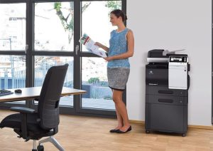 Create a smaller footprint with the Bizhub C3850fs