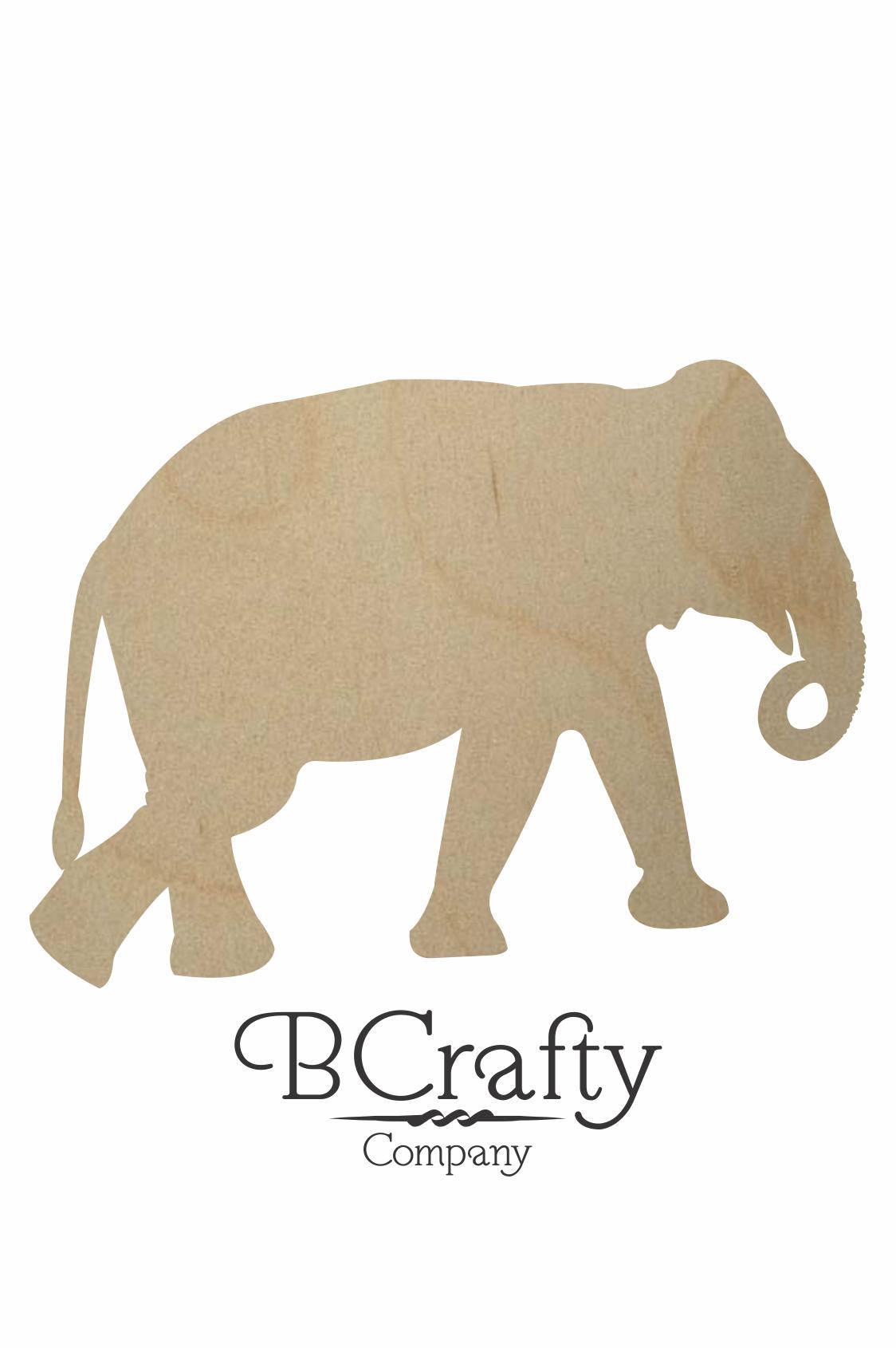 Wooden Elephant Shape By Bcrafty Company