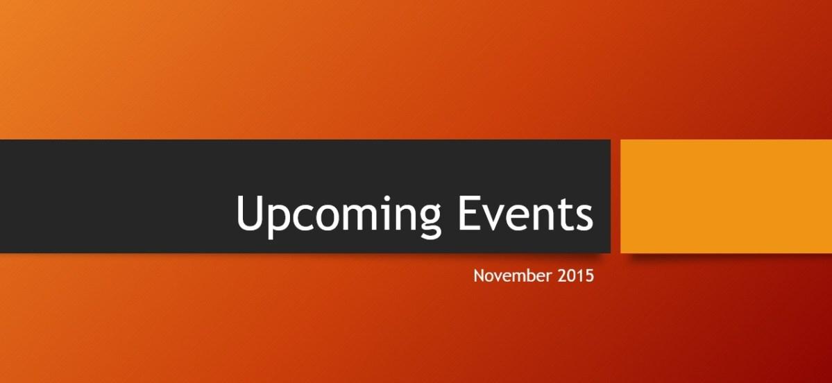November 2015 Events
