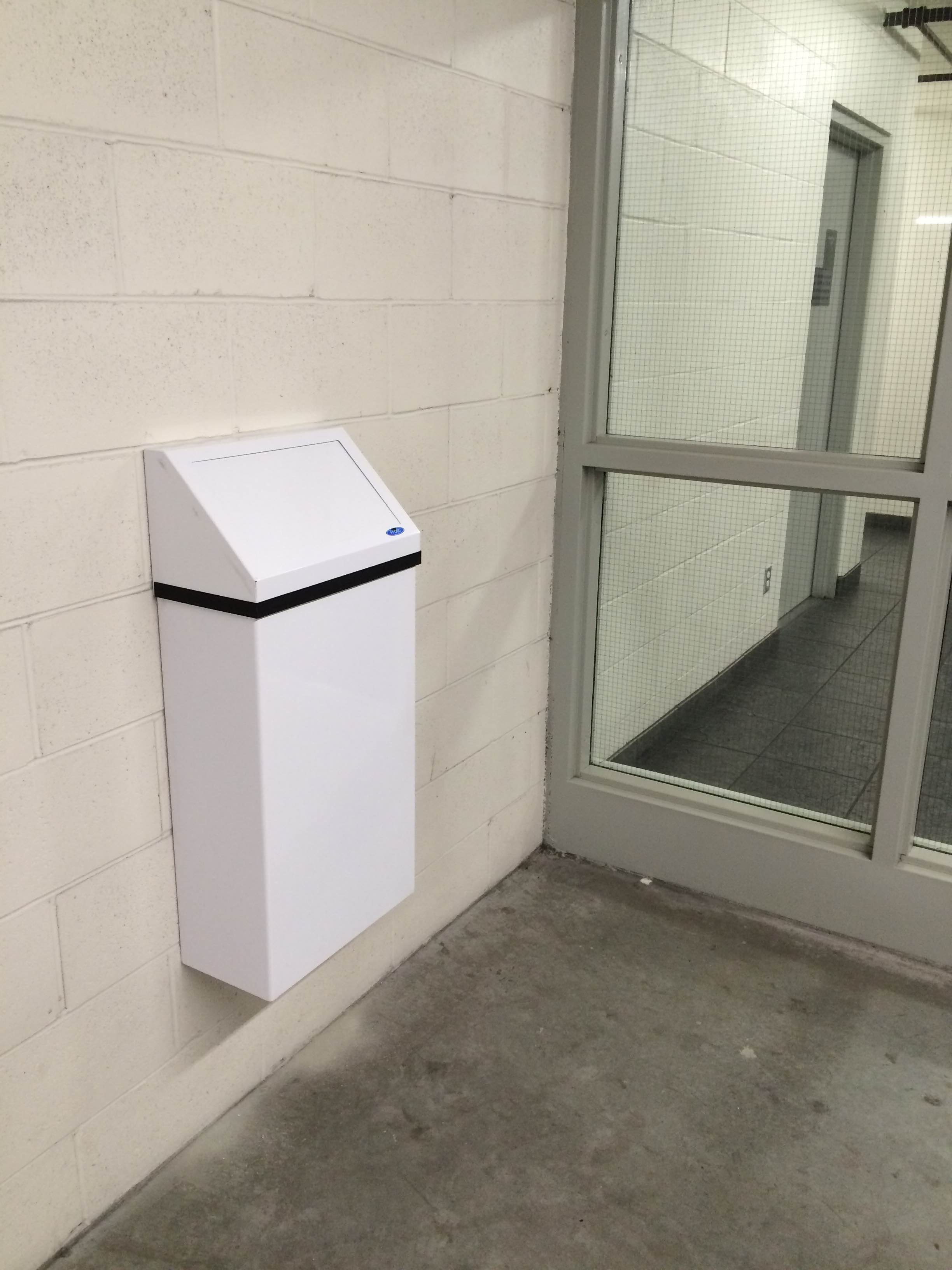 Wall Mounted Garbage Receptacle Bc Site Service