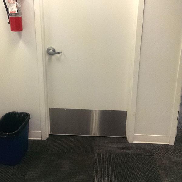 stainless steel door kick plate