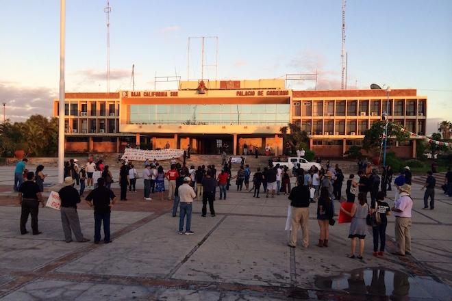 manifestacion palacio de gobierno