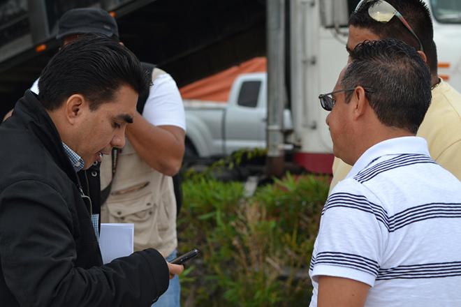 Director de transporte y Pedro Albor