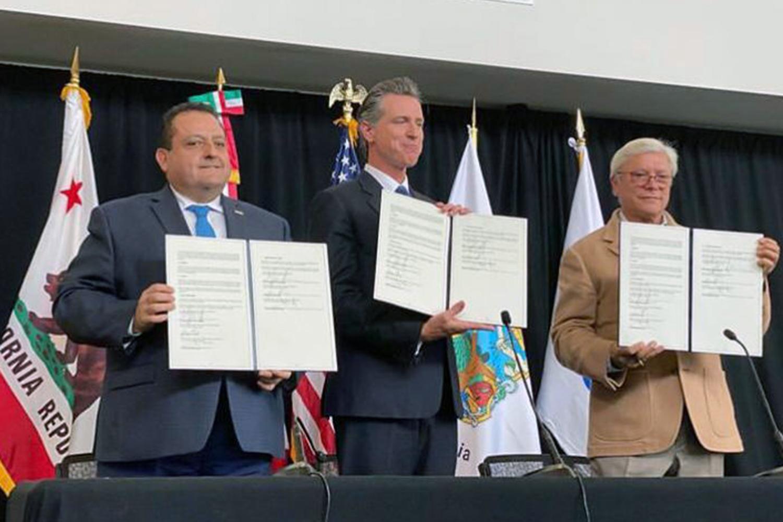 Firman acuerdo las 3 Californias, para cooperación en problemas comunes: Gobernador de BCS