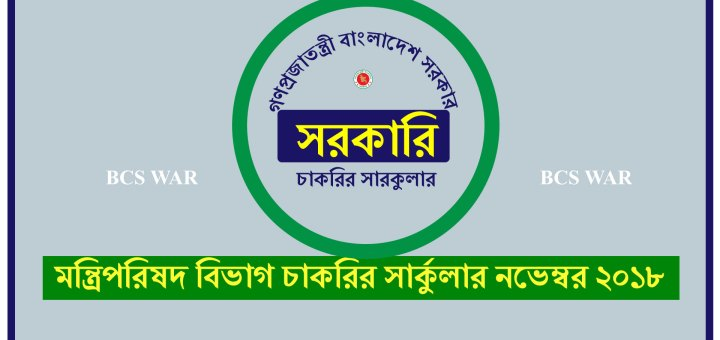 মন্ত্রিপরিষদ বিভাগ চাকরির সার্কুলার