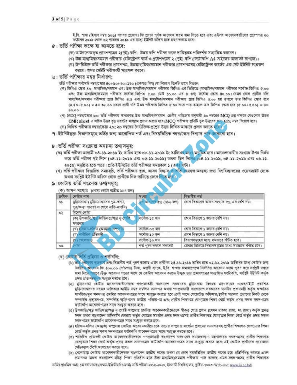 Iu admission Notice 2019-20