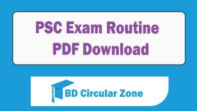 PSC Exam Routine 2019 PDF Download