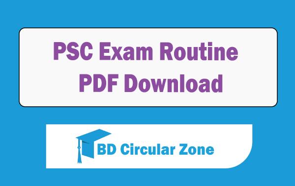 PSC Exam Routine 2019 PDF Download