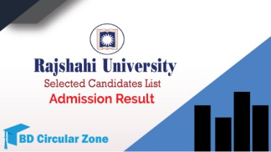 Rajshahi University RU Admission Result 2019–20