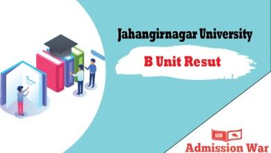 JU B Unit Result 2019-20