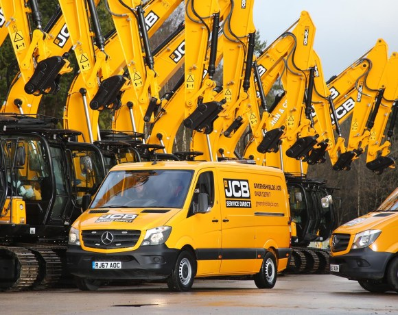 One of the world's largest JCB dealers has broken new ground by commissioning its first Mercedes-Benz vans,