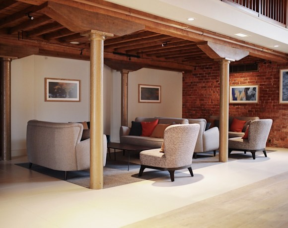 MC Construction has completed a revamp of the reception and business conference area at the Manchester Marriott Victoria & Albert Hotel.