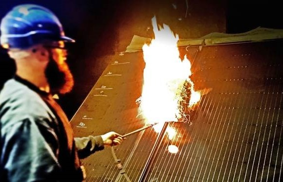 Viridian Solar announces that its Clearline Fusion BIPV roofing system has completed the full suite of European fire testing for external spread of flame