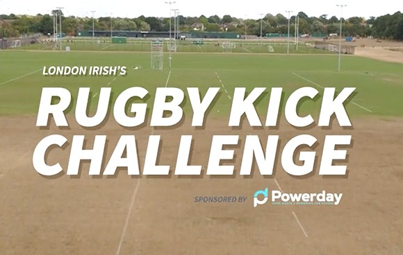 The players at London Irish faced their biggest challenge yet when their principal sponsor, waste management company Powerday, brought a selection of skips, some healthy competition and just one question to the pitch: who would come out on top in the Rugby Kick Challenge?