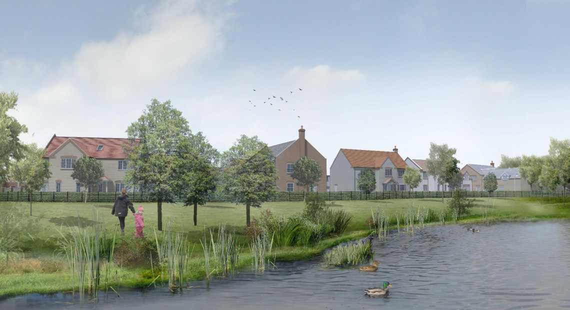 A new 46.7-acre development in the village of Sudbrooke has taken its design inspiration from the surrounding historic woodland and the traditional village setting.