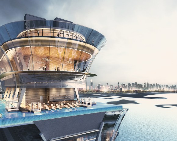 Master developer Nakheel has started constructing the rooftop infinity swimming pool at The Palm Tower, its 52-storey, luxury hotel and residential complex at the heart of Palm Jumeirah in Dubai.