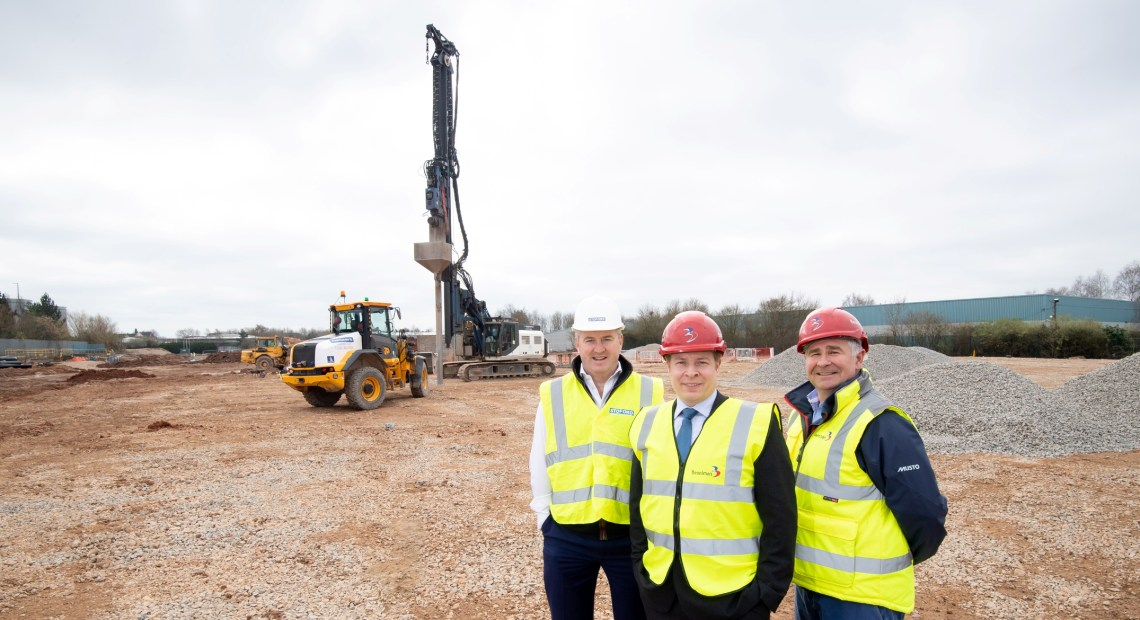 Work has begun on the third phase of a multi-million pound business park in Leamington Spa, which will bring 180,000 sq ft of new industrial units to the town.
