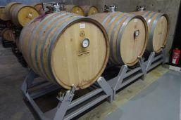 Deposito de madera que permite girar la barrica y hecer toda la fermentacion en madera