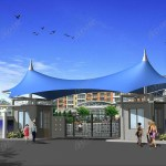 Tensile Structure For Traffic Tensioned Fabric Transportation Architecture